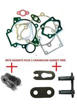 CDHPOWER 1 Set 66cc/80cc Gasket Kits and Half Lock and 415 Link for 2 Stroke Gas Motor Engine Kit - Bicycle Motors - Bicycle Engine Kits