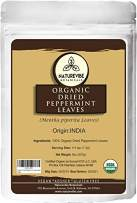 Naturevibe Botanicals Organic Dried Peppermint Leaves, 8 ounce   Gluten Free, Non GMO and Keto Friendly   Mentha spicata L.