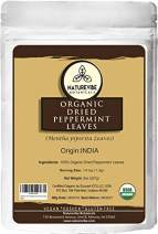 Naturevibe Botanicals Organic Dried Peppermint Leaves, 8 ounce | Gluten Free, Non GMO and Keto Friendly | Mentha spicata L.