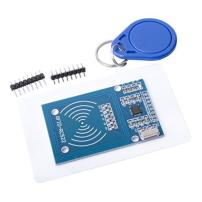 Qunqi RC522 RFID RF IC Card Inductive Module with S50 White Card and Key Ring for Arduino