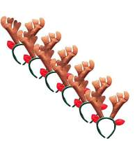 The B-Style TB Christmas Headband Holiday Party Decoration Reindeer Antler Headband Pack of 6