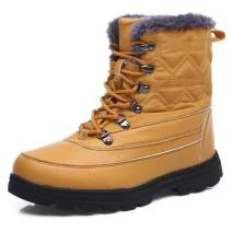 aeepd Winter Snow Boots Water Resistant Outdoor Ankle Booties Warm Fur Lined Anti-Slip Mid Calf Boots