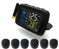 SYKIK-TPMS Real Time Tire Pressure Monitoring System for Cars, RVs and Trucks, 4 to 22 Wheels -Theft Sensors, with 3-Year US Warranty (6)