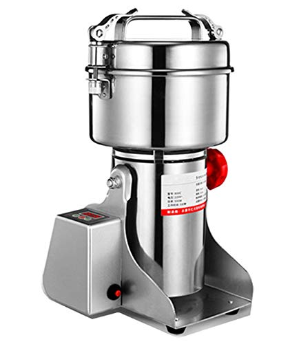 CGOLDENWALL LED Display Electric Grain Grinder Mill High-speed Spice Herb Mill Commercial powder machine Powder Machine Dry Cereals grain Herb Grinder CE approved (800g Swing Type)