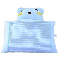 Baby Newborn Infant Toddler Soft Cotton Sleeping Support Pillow Prevent Flat Head Flathead (blue)