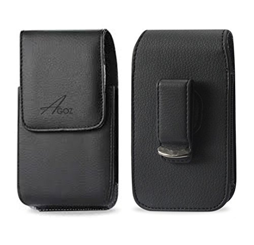 AGOZ Kyocera DuraForce PRO Holster, Vertical Leather Case Pouch for Kyocera DuraForce PRO E6830 E6820 E6810 E6833, Kyocera DuraForce PRO 2 E6910 E6920 with Swivel Belt Clip and Magnetic Closure