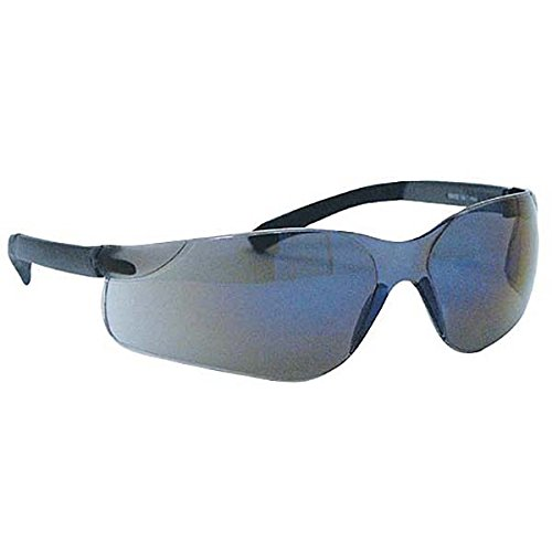 Ironwear Derby 3500 Series Nylon Protective Safety Glasses, Blue Mirror Lens, Black Frame (3500-BM)