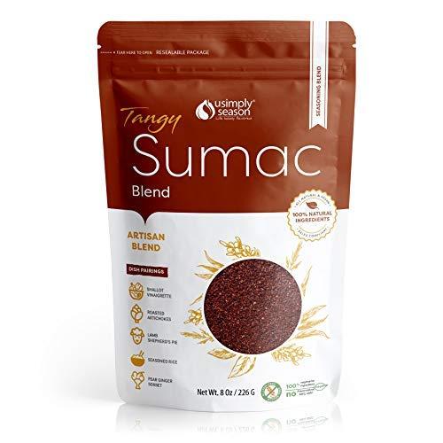 USimplySeason Sumac Spice (Tangy Powder, 8 Ounce)