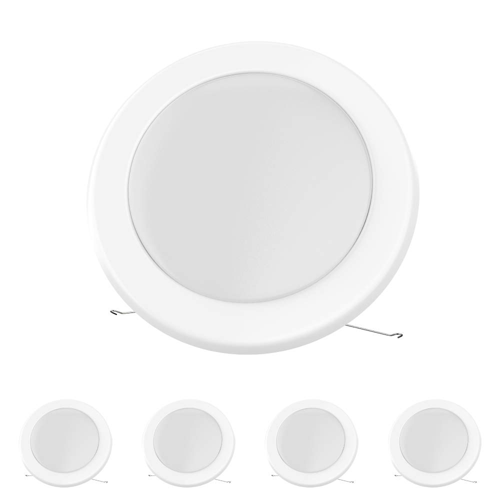 4-Pack LEDMyplace 5/6-inch Dimmable LED Disk Light Flush Mount Ceiling Fixture, 15W (120W Replacement), 5000K, Energy Star