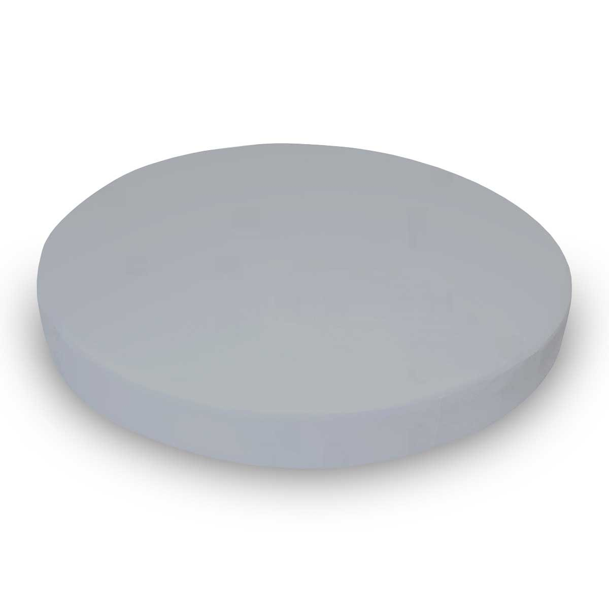 SheetWorld Fitted Oval (Stokke Mini) - Solid Grey Woven - Made In USA
