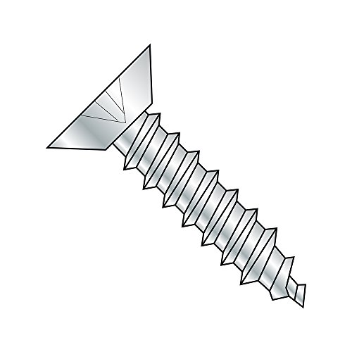 18-8 Stainless Steel Sheet Metal Screw Undercut 82 degrees Flat Head Pack of 100 Phillips Drive #6-20 Thread Size 3//8 Length Plain Finish Type AB