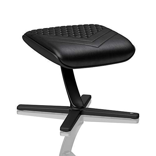 noblechairs Footrest for Gaming Chair - Office Chair - Real Leather - Footrest - Practical Adjustment - 360° Rotatable - 57° Tiltable - Black