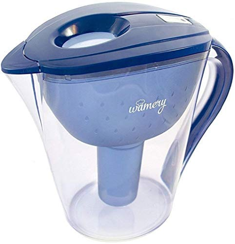 Water Filter Pitcher 8 Cup with LED indicator. Removes Tap Water Lead, Chlorine and Metals. WQA & BPA Free Certified Jug. Ionizer Makes Faucet Water Fresh, Clean, Healthy & Taste better. Filter free.