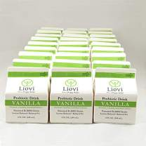 Liovi Probiotic Drink for Women, Men, and Kids | Digestive Drinks with Plain/Vanilla Flavors, Gastrointestinal Support, Healthy Microbiome | Probiotics | Taste Like Vanilla Ice Cream