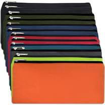 12 Pack of Classic Traditional Cloth Pencil Cases in Bulk, in Solid Colors (12 Pack)