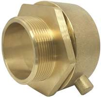 """Happy Tree Brass Male Swivel Adapter Fire Hose Hydrant Adapter with Pin Lug 2-1/2"""" NST/NH Female x 2"""" NPT Male Brass Fire Equipment"""