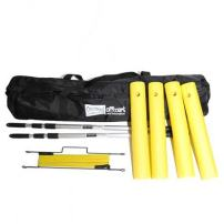 E-Z Airzone - Tennis Target System & Training Aid | Portable & Lightweight | Net Adjusts up to 7 Ft | Quick Set-Up No Tools Needed | Weather-Resistant | Stop Hitting Balls Into the Net | Bag Included