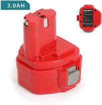 Replace Makita 12V Battery for PA12 1220 1222 1233 1200 1234 1235 1235B 1235F 1235A 192696-2 192698-8 192598-2 192681-5 192698-A 193138-9 193157-5, 12 Volt 3.0Ah / 3000mAh NiMh Replacement Battery