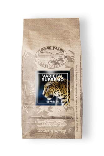 Camano Island Coffee Roasters - Organic Varietal Supremo Espresso Blend - Fresh Premium USDA Certified Organic, Shade Grown, Fair Trade, and Ethical