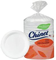 Chinet Big Party Pack, Heavy Weight Paper Plates, Classic White,225 Count