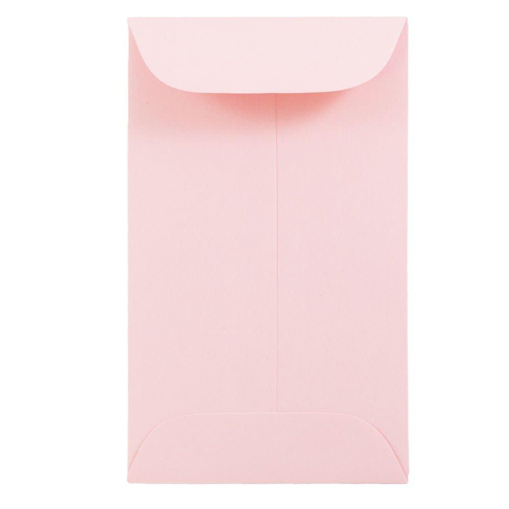 JAM PAPER #3 Coin Business Premium Envelopes - 2 1/2 x 4 1/4 - Baby Pink Pastel - 100/Pack