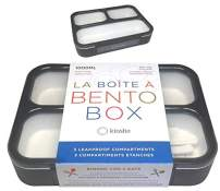 Bento Box For Adults Leak-proof | Lunch-boxes Bento-boxes for Kids Boys Girls Teens with 3 Compartment | Slim Container For Work And School | Eco-friendly Leakproof Divided Containers, Grey - Black