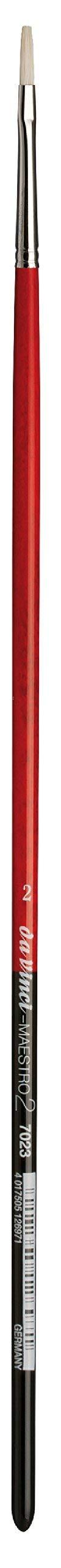 da Vinci Hog Bristle Series 7023 Maestro 2 Artist Paint Brush, Flat with European Sizing, Size 2