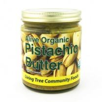 Living Tree Alive Organic Raw Pistachio Butter | No Added Sugar, Gluten-Free, Seed Butter - 8 Ounce Jar