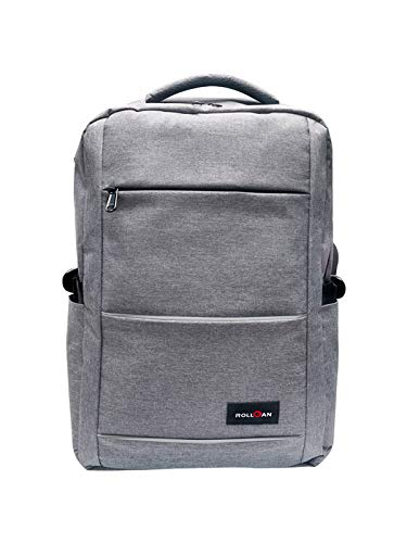 ROLLGAN G1 Multi-function Slim Commuting Laptop Backpack for 15.6 Inch Notebook,Business Anti Theft Computer Bag with USB Charging Port,Water Resistant,Reflective Materials and Multi Compartments,Fits for Men & Women(Grey)