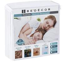 Twin XL Zippered Mattress Encasement Six Sides Waterproof, Dust Mite Proof, Bed Bug Proof Breathable and Noiseless-Vinyl Free by Bedecor