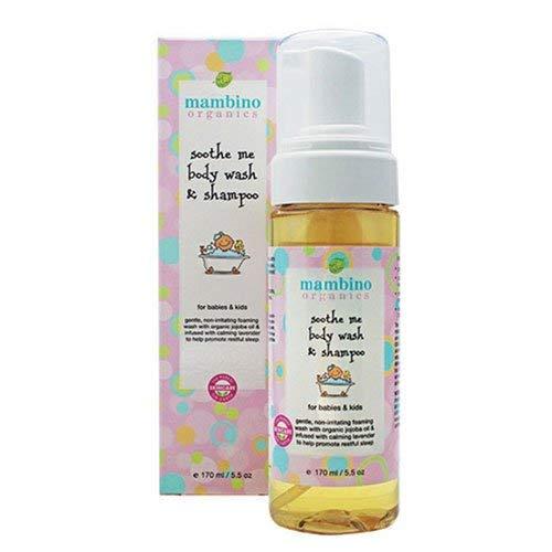 Mambino Organics Soothe Me Shampoo & Body Wash, Green Tea & Lavender, 5.5 Fluid Ounces