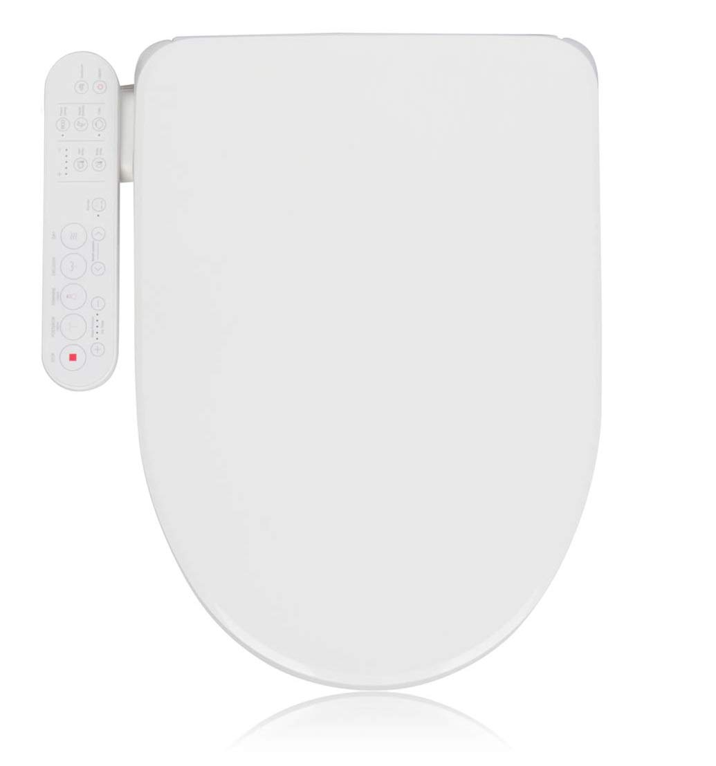Alpha Bidet GX Wave Bidet Toilet Seat in Round White | Strong Spray | Stainless Steel Nozzle | 3 Wash Functions | LED Nightlight | Warm Air Dryer | Oscillation and Pulse