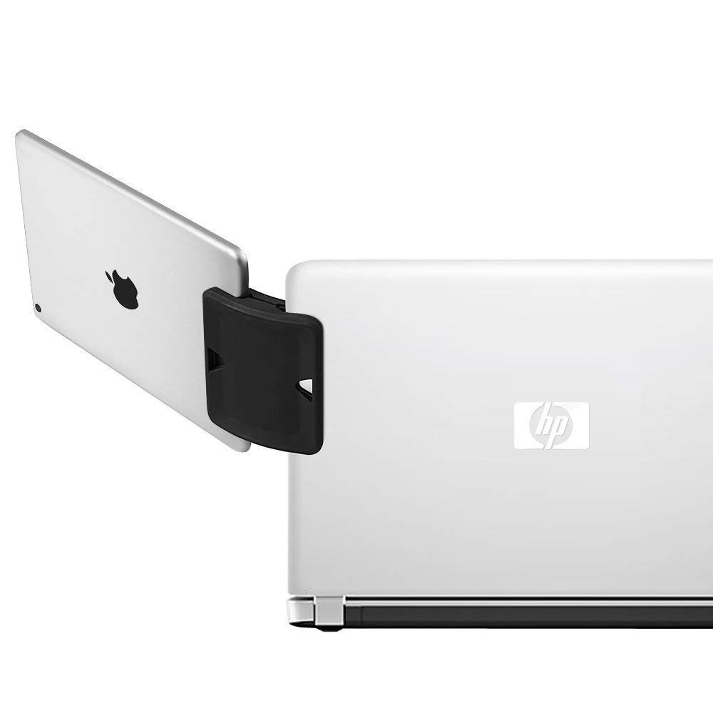 daite Dual Display Side Mount Clip, Tablet & Phone Mountie Side Mount Clip, Dock to Laptop or UltraBook (Black)