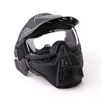 NINAT Airsoft Mask Tactical Masks Full Face with Lens Goggles Eye Protection for Halloween CS Survival Games Shooting Cosplay Mask Black Green Tan Grey