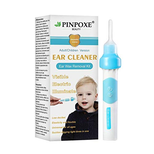 Ear Wax Removal Kit, Ear Cleaner, Portable Automatic Electric Vacuum Ear Wax, Ear Vacuum Cleaner Easy Earwax Remover Soft Prevent Ear-Pick Clean Tools Set, Safe and Comfortable for Adults Kids