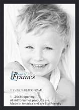 ArtToFrames 24x34 inch Black Picture Frame, 2WOMFRBW72079-24x34