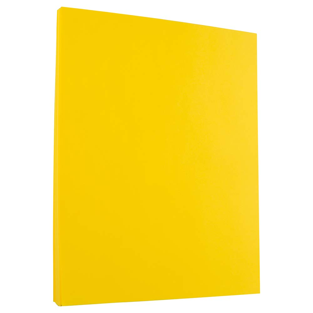 JAM PAPER Colored 24lb Paper - 8.5 x 11 - Yellow Recycled - 50 Sheets/Pack