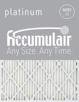 Accumulair Platinum 19x20x1 (Actual Size) MERV 11 Air Filter/Furnace Filters (2 pack)