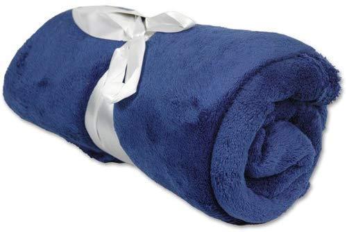 "Threadart Super Soft Ultra Plush Fleece Throw Blankets 50""x60"" | Fuzzy Soft Cozy Microfiber | Navy | 11 Colors Available"
