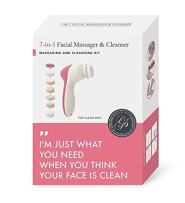 Grace & Stella Spin Facial Brush for Perfect Skin - Portable, Water Resistant & Multi-Purpose: Exfoliate Dead Skin, Remove Makeup, Remove Calluses, Stimulate Collage (7-in-1)