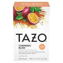 Tazo Turmeric Bliss Tea Bags, Herbal, 20 Count (Pack of 6)