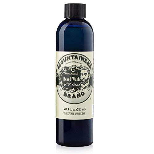 Beard Wash by Mountaineer Brand (8oz)   WV Coal Scent (Peppermint & Patchouli)   Premium 100% Natural Beard Shampoo