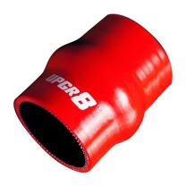 """Upgr8 Universal 4-Ply High Performance Straight Hump Coupler Silicone Hose (2.0""""(51MM), Red)"""