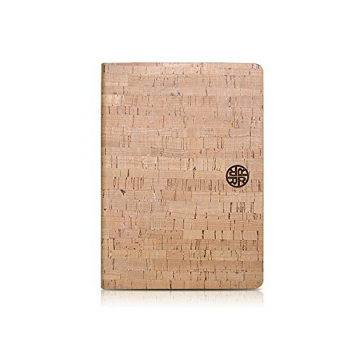 Cork Wood Folio Case Compatible with iPad Mini 5, with Multiple Viewing Angles by Reveal Shop - Natural, Eco-Friendly Cork Leather Design (Cork, Mini 5)