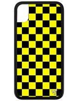 Wildflower Limited Edition Cases for iPhone XR (Yellow Checkers)
