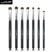 Eyeshadow Brush Set - JAF 7pcs Natural Pony Hair Eye shadow Makeup Brushes Set Black, Perfect For Smudge Blending Shade