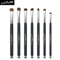 Eyeshadow Brush Set - JAF 7pcs Natural Pony Hair Eye shadow Makeup Brushes Set Black, Perfect For Smudge Blending Shade