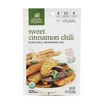 Simply Organic Sweet Cinnamon Chili Vegetable Seasoning Mix, Certified Organic, Vegan | 0.71 oz | Pack of 12