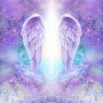 Baocicco 5x5ft Angel Backdrop Mysterious Purple Wings Photo Backdrop Holy Lights Dreamy Background Photography Background Birthday Baby Shower Baby Children Adults Portrait Studio Prop