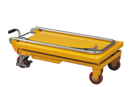 """Wesco Industrial Products 260201 Folding Handle Scissors Lift Table, 330-lb. Load Capacity, 17.75"""" x 36"""" x 37"""""""